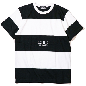 LZBN / REFINE BORDER TEE (WHITE/BLACK)