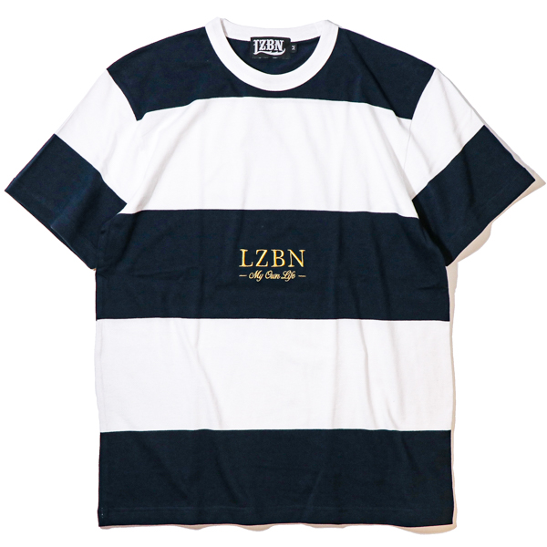 LZBN / REFINE BORDER TEE (WHITE/NAVY)