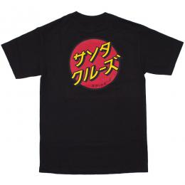 SANTA CRUZ / JAPANESE DOT TEE (BLACK)