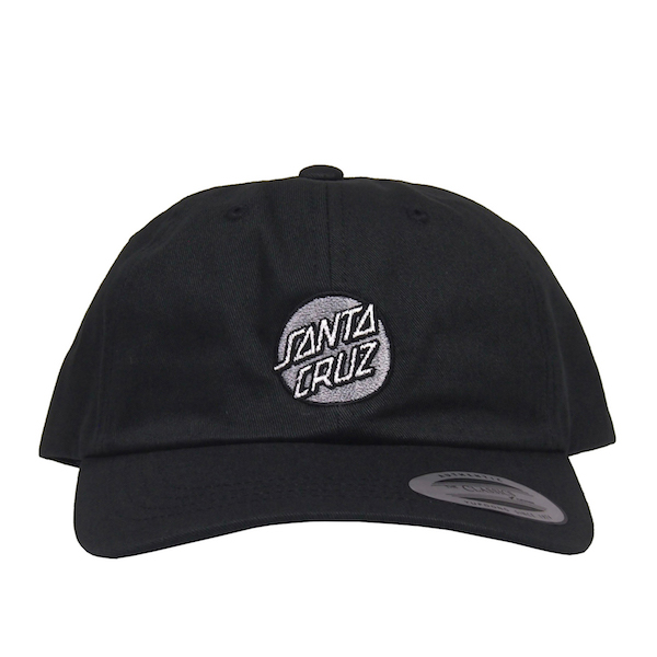 SANTA CRUZ / OTHER DOT ADJUSTABLE 6-PANEL CAP (BLACK)