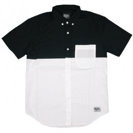 SILLY GOOD / S/S BI COLOR SHIRT (BLACK/WHITE)