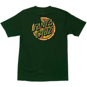 SANTA CRUZ X TMNT / PIZZA DOT TEE (FOREST GREEN)