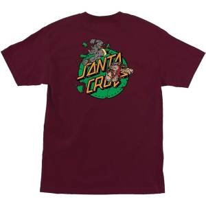 SANTA CRUZ X TMNT / BEBOP AND ROCKSTEADY TEE (BURGUNDY)