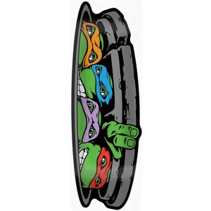 SANTA CRUZ X TMNT / TURTLE FUNBOARD DECK 10.31IN X 30.49IN