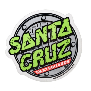 SANTA CRUZ X TMNT / SEWER DOT STICKER