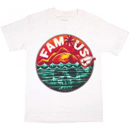 FAMOUS STARS AND STRAPS / SKULL ISLAND TEE (WHITE)