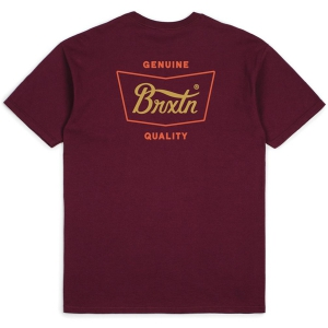 BRIXTON / STITH STANDARD TEE (BURGUNDY/RED)