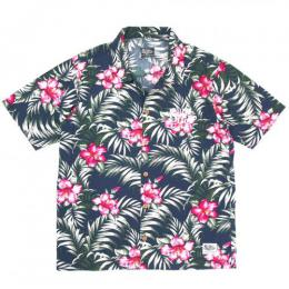 SILLY GOOD / IVY ALOHA S/S SHIRT (NAVY)