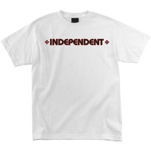 INDEPENDENT / BAR/CROSS TEE (WHITE)