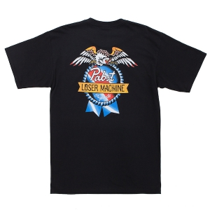 LOSER MACHINE / LMC X PBR AMERICAN ORIGINAL STOCK TEE (BLACK)
