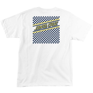 SANTA CRUZ / CHECK STRIP HUE TEE (WHITE)