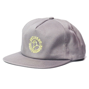 ANTIHERO / BASIC PIGEON ROUND SNAPBACK CAP (GREY/YELLOW)