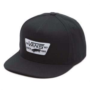 VANS / FULL PATCH SNAPBACK CAP (TRUE BLACK)