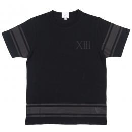 CLOUD13 / ONE COLOR LINE TEE (BLACK)