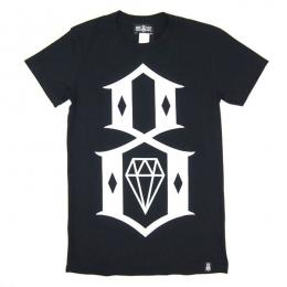 REBEL8 / WOMENS LOGO TEE (BLACK)