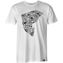 FAMOUS STARS AND STRAPS / COLLAGE BOH TEE (WHITE)