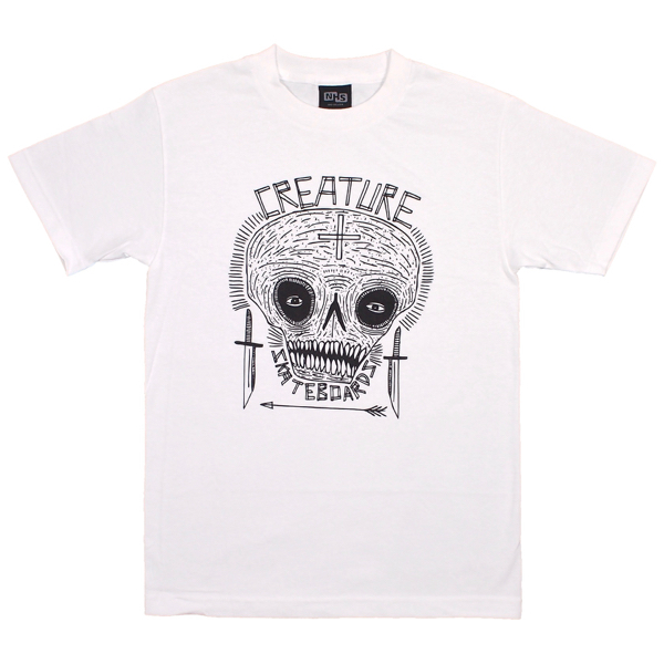 CREATURE / CRIDDLER TEE (WHITE)