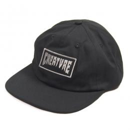 CREATURE / CORPOCORPSE UNSTRUCTURED SNAPBACK CAP (BLACK)