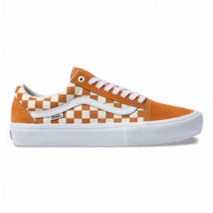 "VANS / OLD SKOOL PRO (""CHECKERBOARD"" GOLDEN OAK)"