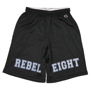 REBEL8 / INTEGRITY CHAMPION MESH SHORTS (BLACK)