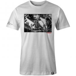FAMOUS STARS AND STRAPS / DRUMS DRUMS DRUMS TEE (WHITE)