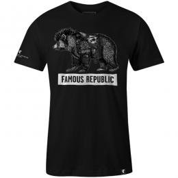 FAMOUS STARS AND STRAPS / FAMOUS REPUBLIC TEE (BLACK)