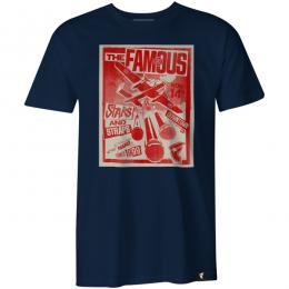 FAMOUS STARS AND STRAPS / THE DROP TEE (NAVY)