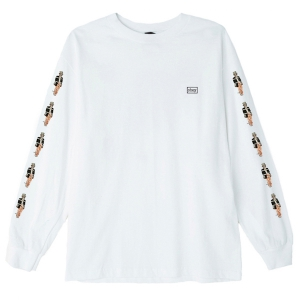 OBEY / BOUND TO FAIL BASIC L/S TEE (WHITE)