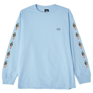 OBEY / BOUND TO FAIL BASIC L/S TEE (POWDER BLUE)