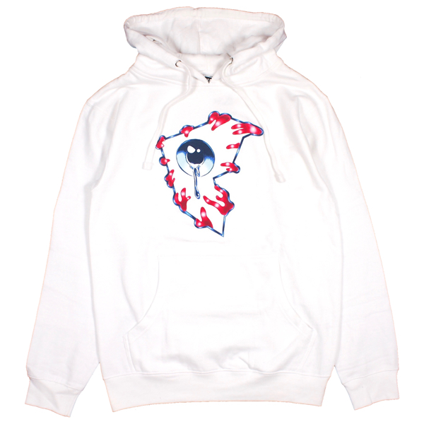 FAMOUS STARS AND STRAPS × MISHKA / ALL SEEING F PULLOVER HOODIE (WHITE)