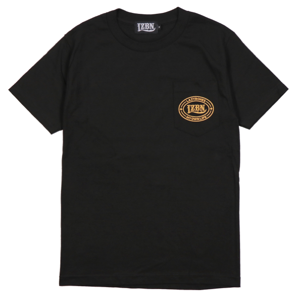 LZBN / OVAL POCKET TEE (BLACK)