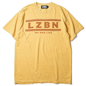 LZBN / FADED LINE GARMENT DYED TEE (MUSTARD)