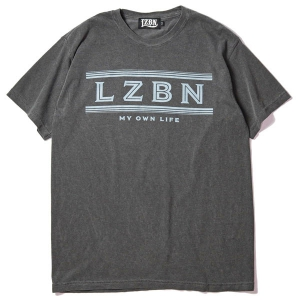 LZBN / FADED LINE GARMENT DYED TEE (PEPPER)