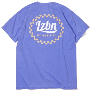LZBN / CHECKERED CIRCLE GARMENT DYED TEE (FLO BLUE)