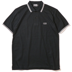 LZBN / REFINE PATCH POLO SHIRT (BLACK)