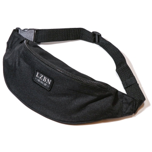 LZBN / REFINE PATCH WAIST BAG (BLACK)