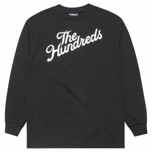 THE HUNDREDS / FOREVER SLANT L/S TEE (BLACK)
