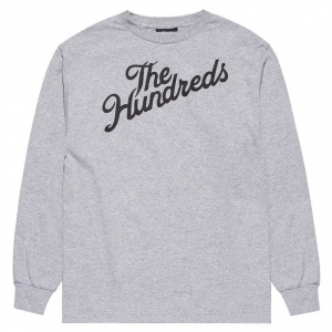 THE HUNDREDS / FOREVER SLANT L/S TEE (ATHLETIC HEATHER)