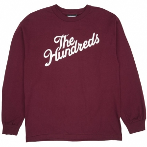 THE HUNDREDS / FOREVER SLANT L/S TEE (BURGUNDY)