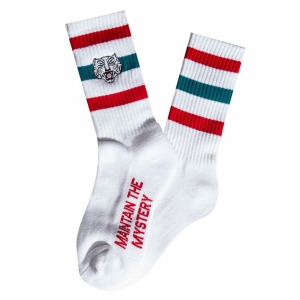 THE HUNDREDS / TIGER CREW SOCK (WHITE)
