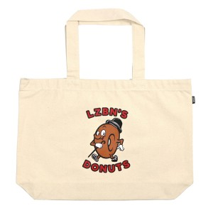 LZBN / LZBN'S DONUTS TOTE BAG (NATURAL)