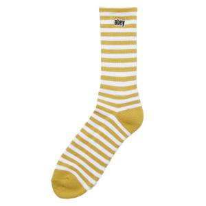 OBEY / DALE SOCKS II (GOLDEN PALM/WHITE)