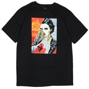 OBEY / WRONG PATH BASIC TEE (BLACK)