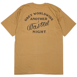 OBEY / OBEY WASTED NIGHTS BASIC TEE (TAPENADE)