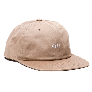 OBEY / JUMBLED 6 PANEL SNAPBACK CAP (KHAKI)