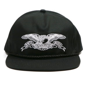 ANTIHERO /  BASIC EAGLE SNAPBACK CAP (BLACK/WHITE)