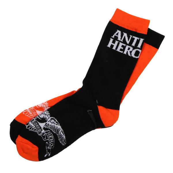 antihero eagle blackhero mix match socks orange black feelin