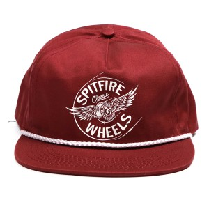 SPIT FIRE / FLYING CLASSIC SNAPBACK CAP (MAROON/WHITE)