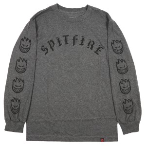 SPIT FIRE / OLD E L/S TEE (CHARCOAL HEATHER)