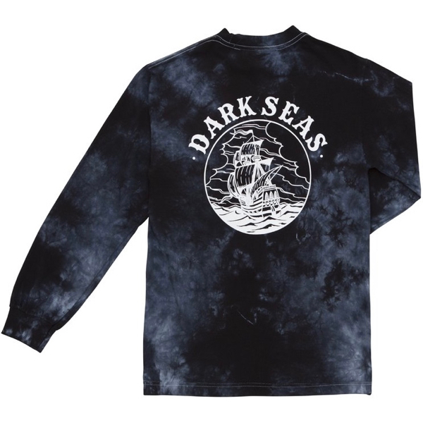 DARK SEAS / COLD CURRENT STOW AWAY L/S TEE (BLACK CRYSTAL WASH)